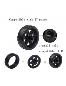 1 Pair Lobot 68mm Silicone Robot Car Wheels Compabible With TT Moter For DIY RC Robot Car