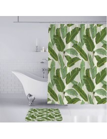 3D Digital Printing Waterproof Mildewproof Shower Curtain Bath Rug Mat Set Bathroom Environmentally No Fading Machine Washable