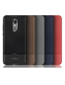 Bakeey Litchi Pattern Anti-fingerprint TPU&Silicone Protective Case For Xiaomi Redmi 5 Plus