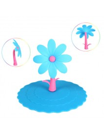 Colorful Flower Silicone Dustproof Cup Lid Leakproof Cup Cover