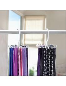 2pcs 360 Rotatable Tie Hanger Rack Adjustable Neck Ties Silk Scarf Storage Hook Organizer