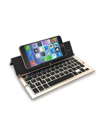 NBC F18 Portable Collapsible Foldable Metal Wireless Bluetooth Keyboard for Android Windows IOS Mac
