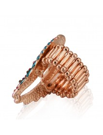 Vintage Inlaid Angelic Angel Wings Ring Elasticity Finger Rings for Women