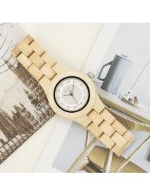 BOBO BIRD O29 Small Dial Crystal Ladies Wrist Watch Casual Style Wooden Quartz Watch