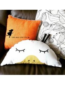 58cm Cute Semicircle Duck Throw Pillow Cotton Cloth Sofa Car Bed Cushion Home Decoration