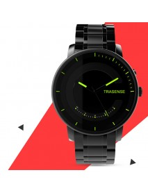 TRASENSE H03-N Luminous Smart Quartz Watch Milanese Stainless Steel Strap Call Reminder Smart Watch