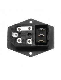 ON/OFF IO Switch Socket with Female Plug for Power Supply Cord Jamma Arcade Machine with Fuse