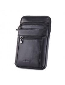 Business Casual Genuine Leather Multi-functional 7 Inch Phone Bag Waist Bag Crossbody Bag For Men