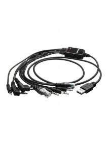 8 In 1 USB Programming Cable for Baofeng for Motorola for Kenwood TYT QYT Radio