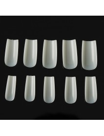 500Pcs Non-marking Full Paste Full Half Dual-use Transparent Water Drop Nail Tips