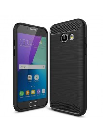 Bakeey Carbon Fiber Brushed Dissipating Heat Soft TPU Case for Samsung Galaxy A3 A5 A7 2017