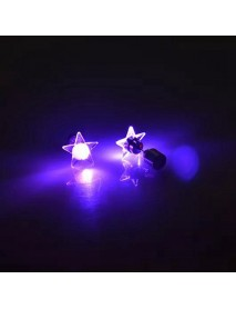 1 Pair Attractive LED Earrings Light Up Star Glowing Charm Ear Stud Women Christmas Gift