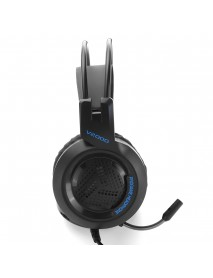 3.5mm HiFi Stereo Gaming Headset Noise Cancelling Headphone With Mic 7 Colors Breathing Light