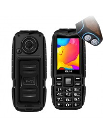 KUH T3 2.4'' 4000mAh Dual Flashlight Bluetooth Power Bank Dual Sim Card Rugged Feature Phone