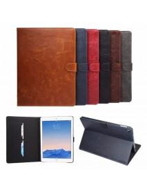 Crazy Horse Smart Sleep Wallet Bracket Case For iPad Pro 9.7