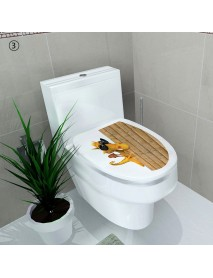 Creative 3D Toilet Seat Wall Sticker Art Wallpaper Removable Bathroom Decals Home Decor