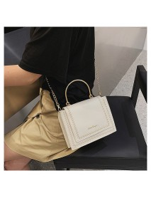 Bag Female New Wheat Ear Embroidery Line Shoulder Bag Fashion Texture Messenger Small Square Bag
