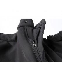 Men's Outdoor Waterproof Zipper Fly Trousers Breathable Windproof Warm Climbing Pants