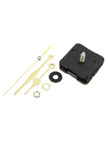 10pcs 20mm Shaft Length Gold Hands Quartz Wall Clock Silent Movement Mechanism Repair Parts