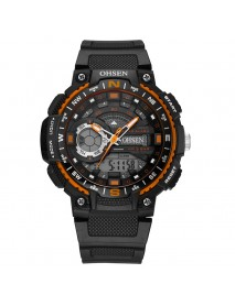 OHSEN AD1705 Digital Watch Dual Display Multifunction LED Sport Swimming Men Watch