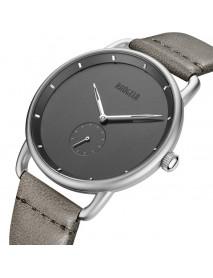 BAOGELA 1806 Ultra Thin Dial Case Men Wrist Watch Business Style Genuine Leather Quartz Watch