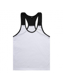 Men's Bodybuilding Muscle Fitness Training Sports Tank Top Casual  Splice Color Vest