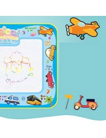 68*38cm Magical Children's Multi-Themed Water Canvas Water Clear Color Graffiti Drawing Board Educational Toys