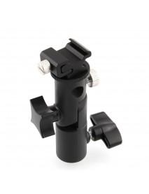 Metal Camera E Type Flash Shoe Umbrella Holder Mount Light Stand Bracket Swivel