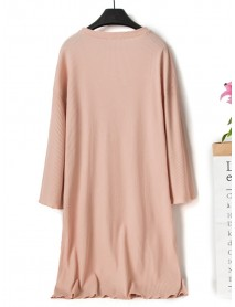 Cotton Loose Casual Short Sleeve Overhead Nightgown