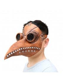 Halloween Cosplay Steampunk Plague Doctor Mask Bird Beak Props Retr Gothic Masks