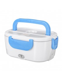 12V-24V/110V-240V 1.2L EU Plug Portable Removable Electric Lunch Box Car School Office Bento Box Food Heater Box