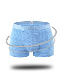 4 Pieces Cotton Breathable Comfy U Convex Boxer Briefs for Men