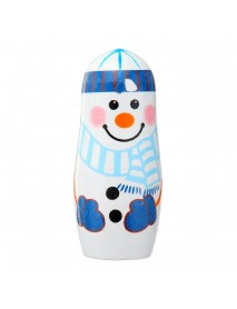 5Pcs/Set Christmas Wooden Russian Nesting Dolls Snowman Decorations Eve For Kid Gift