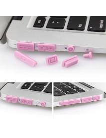Colorful Soft Silicone Anti Dust Plug Ports Set For Macbook Pro Retina 13.3 15.4