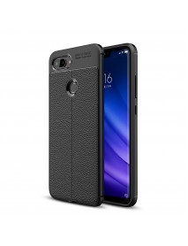 Bakeey Litchi Pattern Shockproof Soft TPU Cover Protective Case for Xiaomi Mi 8 Lite 6.26 inch
