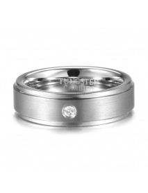 6mm Tungsten Carbide Ring Tungsten Steel Diamond Colorfast Scratch Proof Rings for  Men
