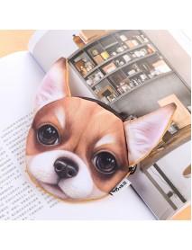 Cartoon Cute Dog Coin Bag Plush Card Holder Key Purse