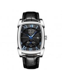 CHENXI 8209 Date Display Calendar Business Style Men Watch Rectangle Dial Quartz Watch