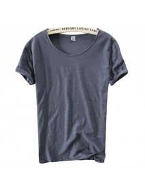 Basic Section Mature Men's Solid Color Tops 8 Colors Summer Thin Casual O-neck Short Sleeved T-shirt