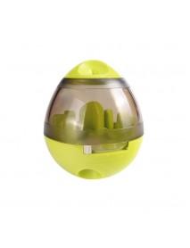 Yani Creative Egg Shape Tumbler Pet Food Dispenser Dog Cat IQ Treat Toy Pet Bowl