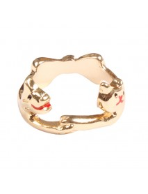 Lovely Animal Lovers Rings Jewelry Cat Dog Cute Bow Tie Couple Ring Accessories