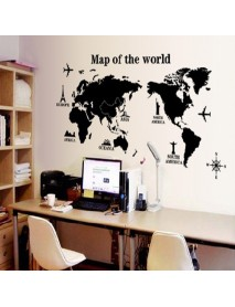 Removable Poster Letter World Map 3D Art Decor Vinyl Wall Sticker Living Room Office Decorations