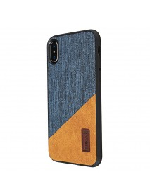 Bakeey Canvas Shockproof Fingerprint Resistant Protective Case For iPhone X
