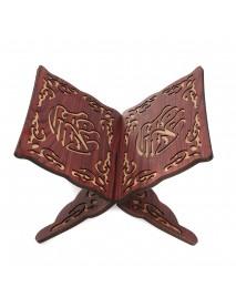 Quran Book Holder Stand Book Reading Shelf Rack Carved Wooden Bookshelf