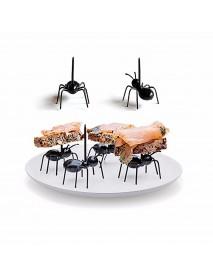 Honana 12pcs Cute Ant Fruit Fork DIY Novelty Eco-friendly Plastic Desserts Snack Novelties Toys