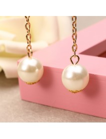 Sweet Heart Star Artificial Pearl Pendant Hair Band Fake Earrings Women Hair Accessories