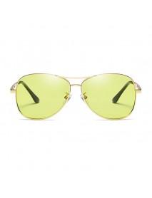 Color-changing Anti-UV Sunglasses Retro Metal Polarized Driving Night Vision Goggles