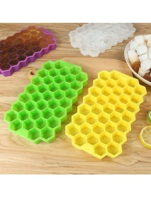 2Pcs 37 Grid Silicone Ice Tray Cube Stacable Mold Set DIY Honeycomb Shape Ice Cube Ray Mold Ice Cream Party Cold Drink Kitchen Cold Drink Tools