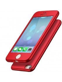 Bakeey 360 Full Body Silicone Case With Tempered Glass Film For iPhone 5/5s/SE