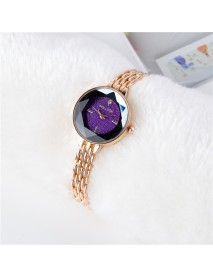 Full Diamond Starry Sky Rose Gold Tassel Strap Fashion Women Quartz Watch